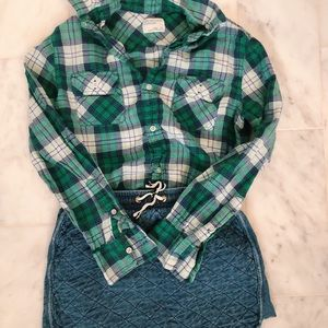 Crewcuts flannel and skirt!